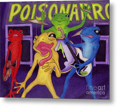 Poison-arrow Frog Band Metal Print