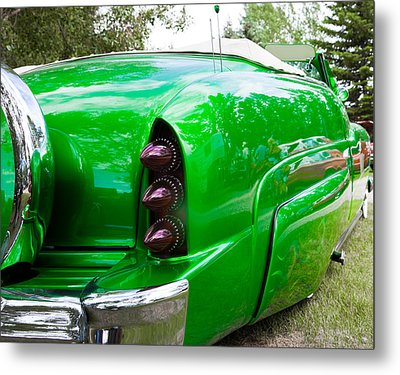Metal Print featuring the photograph Poison Ivy Green Custom Car by Mick Flynn