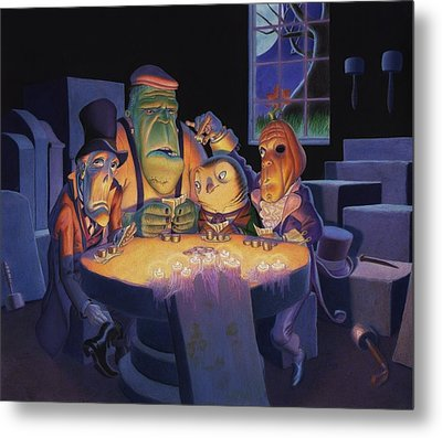 Poker Buddies Metal Print by Richard Moore