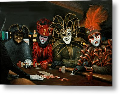 Metal Print featuring the painting Poker Face IIi by Jason Marsh