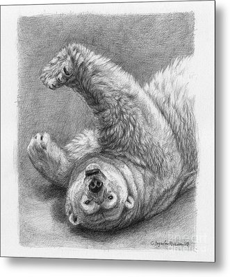 Polar Bear Stretch Metal Print by Svetlana Ledneva-Schukina