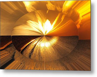 Polarized Sunset Metal Print by Michele Kaiser