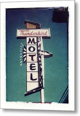Polaroid Transfer Motel Metal Print by Jane Linders