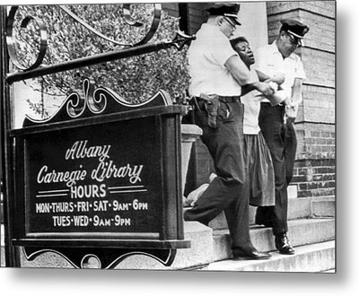 Police Carry Demonstrator Metal Print by Underwood Archives