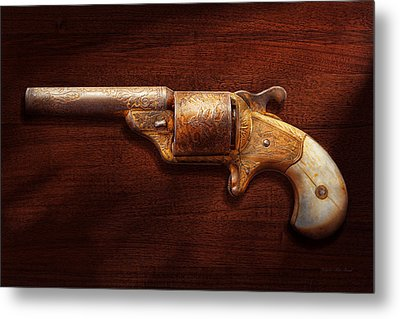 Police - Gun - Mr Fancy Pants Metal Print by Mike Savad