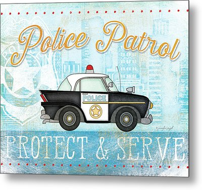 Police Metal Print by Jennifer Pugh