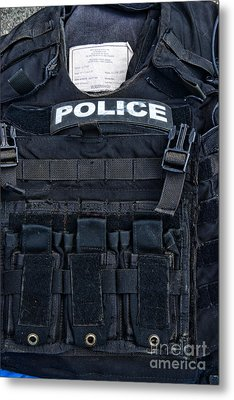 Police - The Tactical Vest Metal Print by Paul Ward
