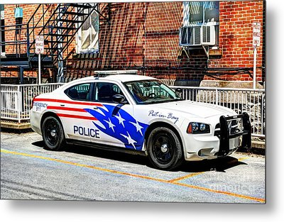 Police Vehicle Only Metal Print by Mel Steinhauer
