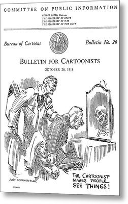 Political Cartoonist, 1918 Metal Print by Granger