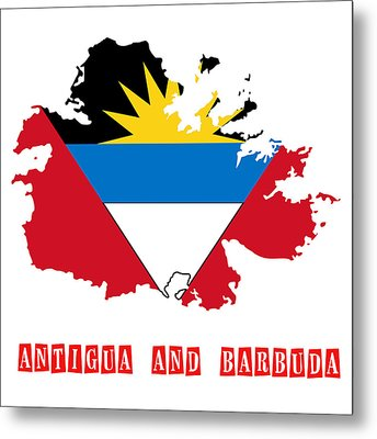 Political Map Of Antigua And Barbuda Metal Print by Celestial Images