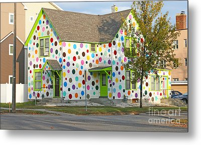 Polka Dot House Metal Print by Steve Augustin