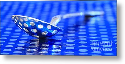 Polka Dot Spoon 2 Metal Print