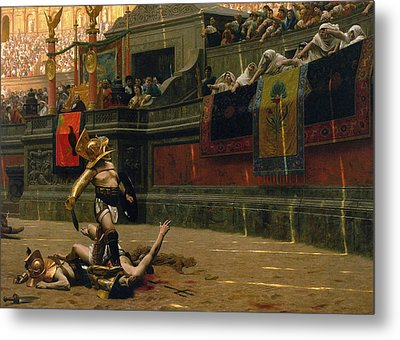 Pollice Verso Metal Print by War Is Hell Store