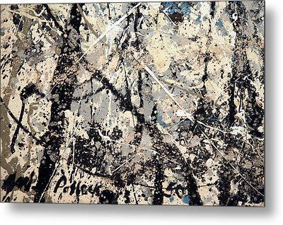 Pollock's Name On Lavendar Mist Metal Print