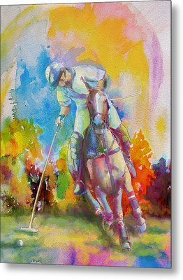 Polo Art Metal Print by Catf