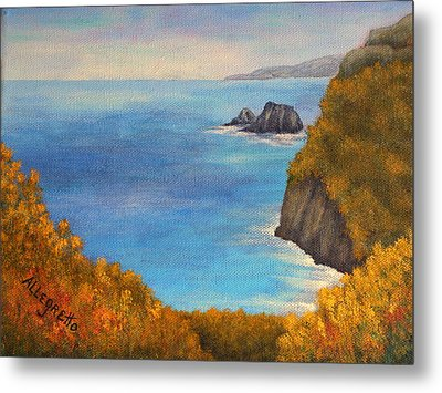 Pololu Valley Lookout Metal Print by Pamela Allegretto