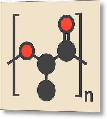 Polylactic Acid Polymer Molecule Metal Print