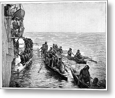 Polynesian Canoes Metal Print by Science Photo Library