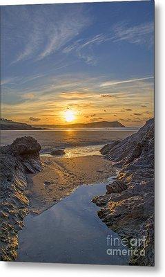 Polzeath Sunset Metal Print