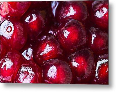 Pomegranate Closeup Metal Print by Alexander Senin