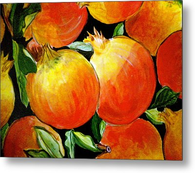 Pomegranate Metal Print by Debi Starr