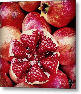 Pomegranate Star Metal Print by Leyla Ismet