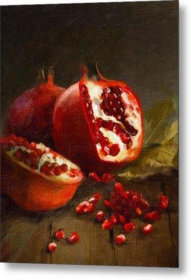 Pomegranates 2014 Metal Print by Robert Papp