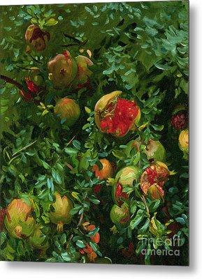 Pomegranates    Majorca Metal Print by John Singer Sargent