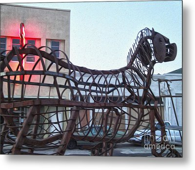 Pomona Art Walk - Metal Horse Metal Print by Gregory Dyer