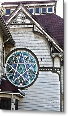 Pomona Seventh Day Adventist Church Stained Glass Metal Print by Gregory Dyer