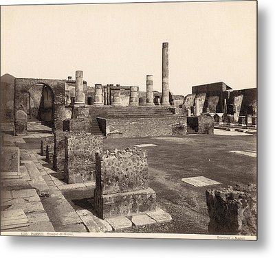 Pompeii Temple Of Jove Metal Print by Granger
