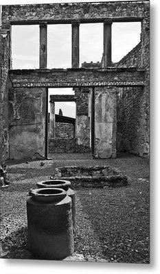 Pompeii Urns Metal Print by Marion Galt