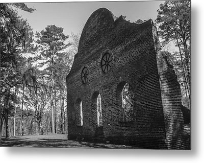 Pon Pon Chapel Of Ease 3 Bw  Metal Print by Steven  Taylor