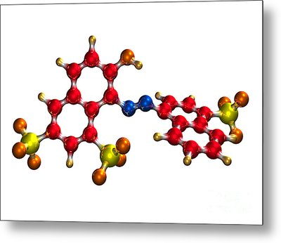 Ponceau Red Food Coloring Molecule Metal Print by Dr. Mark J. Winter
