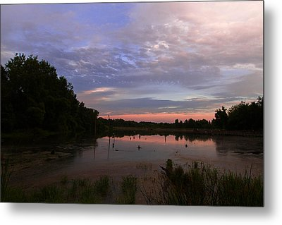 Pond At Carriage Hill Metal Print by Haren Images- Kriss Haren