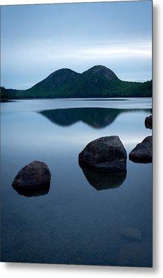 Pond At Dawn, Jordan Pond, Bubble Pond Metal Print by Panoramic Images