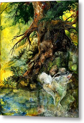 Pond Fairy Metal Print by Sherry Shipley