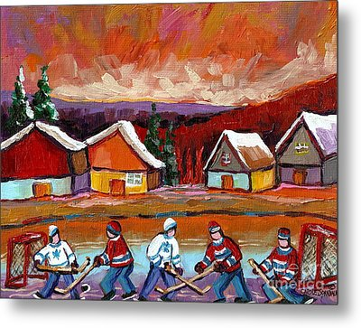 Pond Hockey Game 2 Metal Print