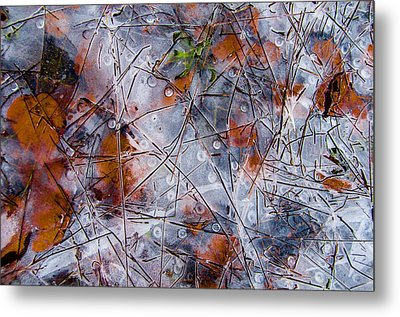 Pond Ice Art Metal Print