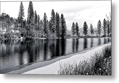 Metal Print featuring the photograph Pond In Snow by Julia Hassett