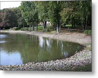 Pond In The Fall Metal Print by Vadim Levin