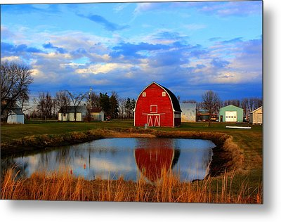 Pondside Farms Metal Print by Larry Trupp