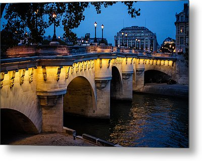 Pont Neuf Bridge - Paris France I Metal Print