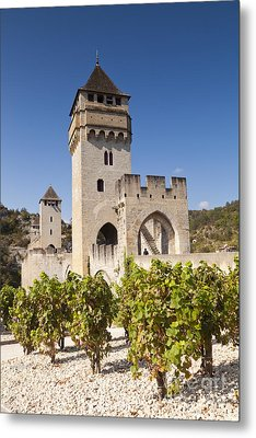 Pont Valentre Cahors Midi-pyrenees France Metal Print by Colin and Linda McKie