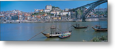 Ponte De Dom Luis I & Douro River Porto Metal Print by Panoramic Images