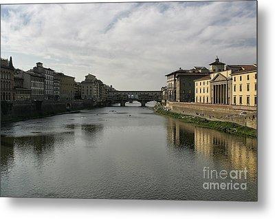 Ponte Vecchio Metal Print by Belinda Greb