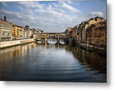 Ponte Vecchio Metal Print by Dave Bowman