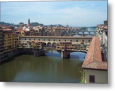 Ponte Vecchio Metal Print by David Nichols