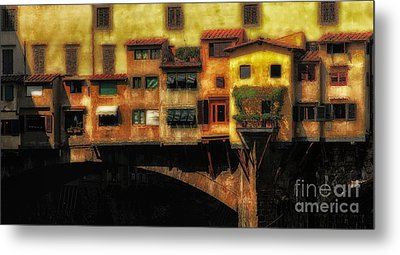 Ponte Vecchio Firenze Metal Print by Mike Nellums