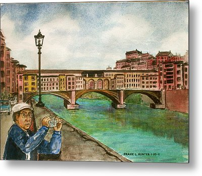 Ponte Vecchio Florence Italy Metal Print by Frank Hunter